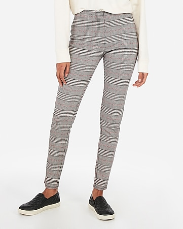 70d60afeacde88 Petite High Waisted Windowpane Pull-on Leggings | Express