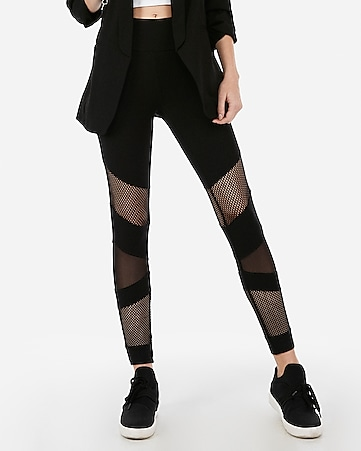 da692406ada63 Express View · sexy stretch high waisted mixed mesh leggings