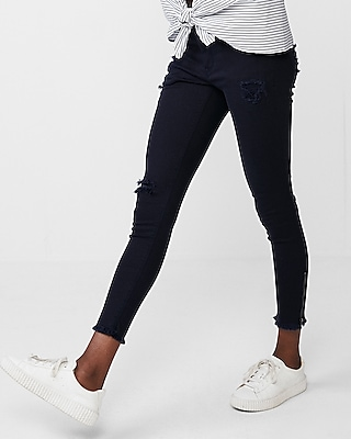 mid-rise-frayed-waistband-stretch-ankle-leggings by express
