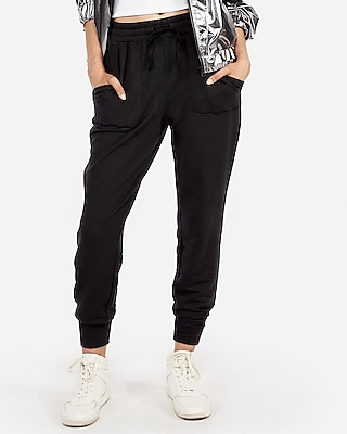petite express one eleven terry jogger pant