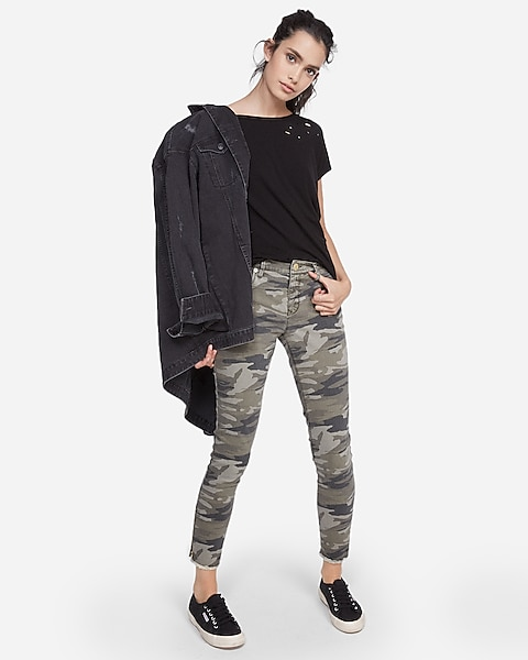 7f97cfe81be4ff Mid Rise Camo Print Ankle Leggings | Express