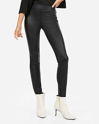petite faux leather leggings