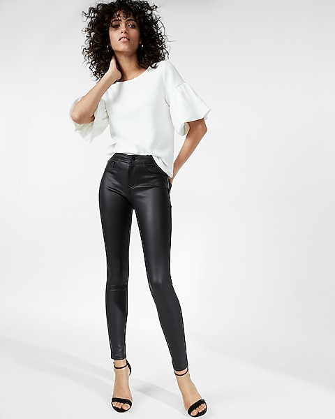 5efe855757a5ae Five Pocket Faux Leather Leggings | Express
