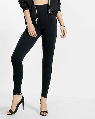 Petite high waisted ponte knit leggings