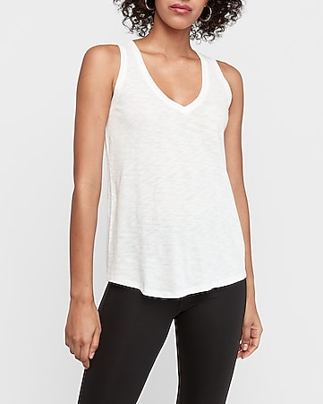 3b7bb786 Express View · express one eleven slub v-neck easy tank