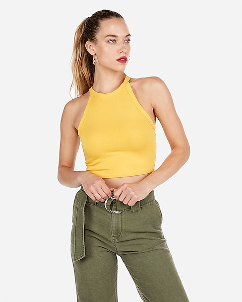 1c78b2dbae Express One Eleven High Neck Cropped Tank   Express