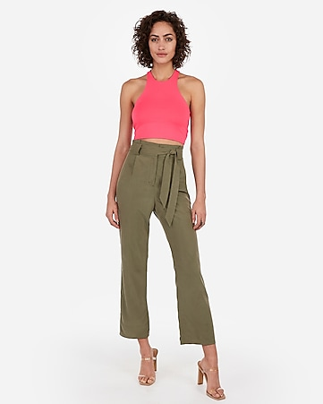 c73fad3473b Express View · express one eleven high neck racerback crop top