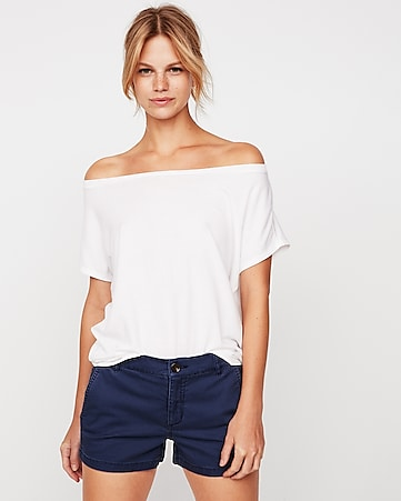 6a5ce191 Express View · express one eleven off the shoulder london tee