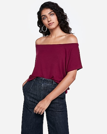 66a05479ba Express View · express one eleven off the shoulder london tee