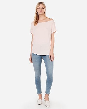 8a2adbc21f84c Express View · express one eleven off the shoulder london tee