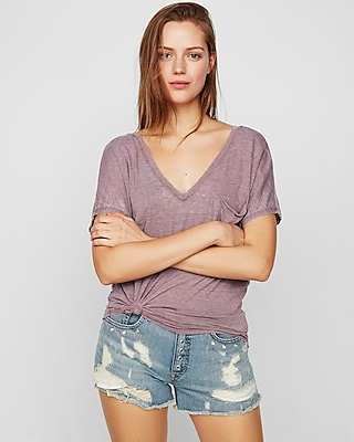 Express One Eleven Double V Relaxed London Tee by Express