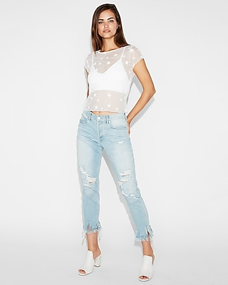 Express One Eleven Sheer Star Tee by Express