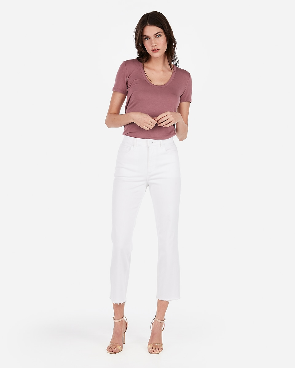 171449676a Petite express one eleven scoop neck strappy back easy tee
