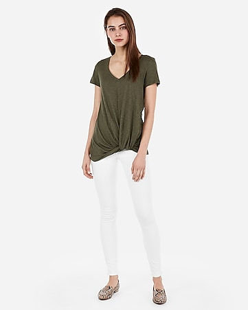 f3d79b544e8 Express View · express one eleven twist front v-neck easy tee
