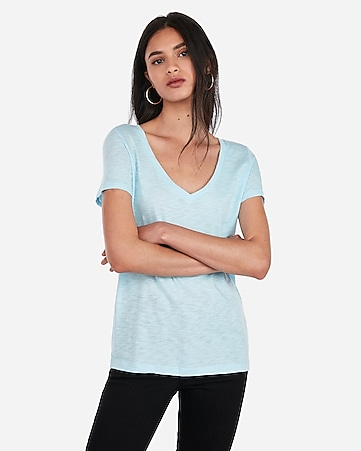 8f807b9ab18c Express View · express one eleven slub v-neck easy tee