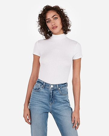 a32b449b Express View · express one eleven mock neck tee