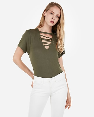 03229d624b Express View · express one eleven strappy girlfriend tee