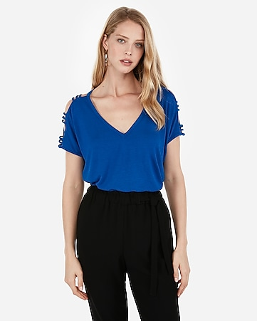 8810e857 Express View · express one eleven strappy sleeve dolman tee