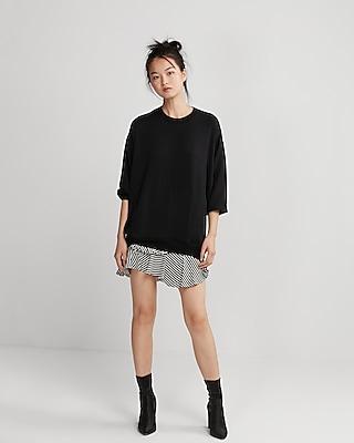 petite express one eleven oversized sweatshirt