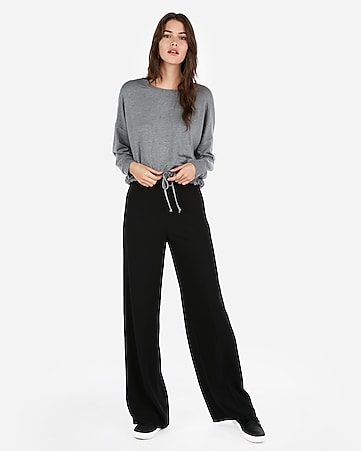 Express View · express one eleven tie hem cropped sweatshirt a0c98acfc