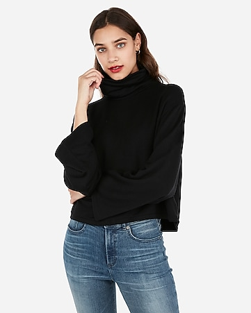 fc84cefa48 Express View · express one eleven cropped flared sleeve sweatshirt