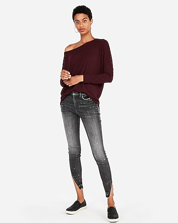 69c8236cb8b express view · express one eleven off the shoulder london tee
