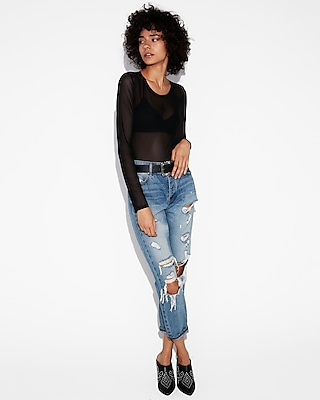 Express One Eleven Sheer Tee by Express