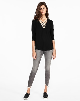 petite express one eleven strappy front london tee