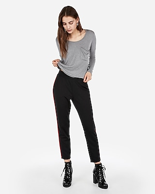 Express.com deals on Express Express One Eleven Long Sleeve Abbreviated Boxy Tee