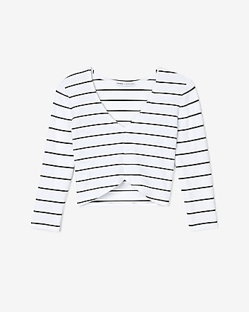 138a73b23bf186 Women s Crop Tops. 1-12 of 12. Express View · olivia culpo striped cropped  hi-lo tee