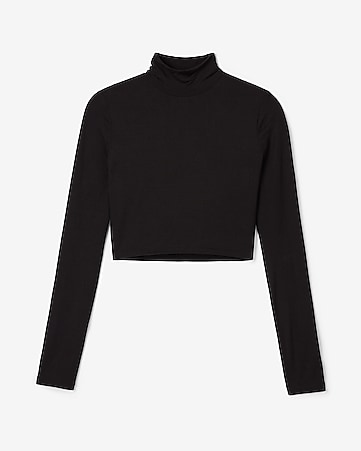 cceb57c8852 express view · olivia culpo cropped mock neck tee