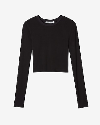 Olivia Culpo Cropped Long Sleeve Tee by Express