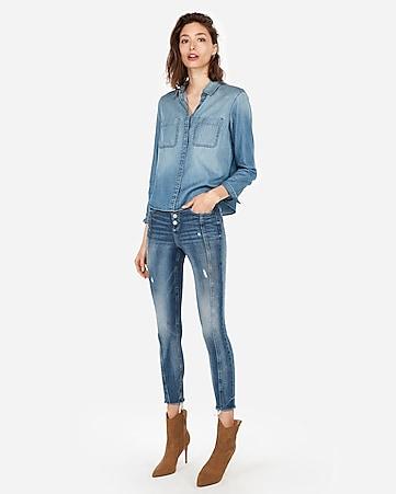 ce4db304e4 Women s Tops - Fashion   Button Up Shirts for Women - Express