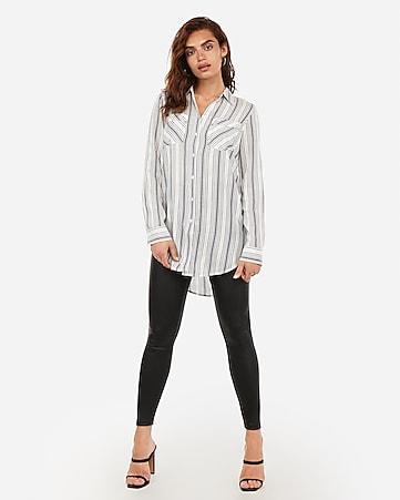 Stripe Oversized Tunic by Express