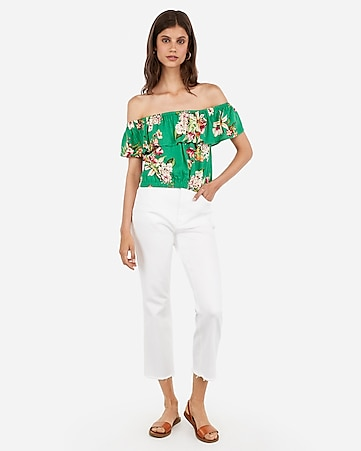 142ae5e785d Express View · floral print ruffle off the shoulder