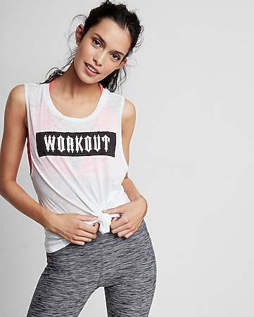 workout graphic muscle tank