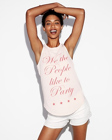 we the people like to party muscle tank