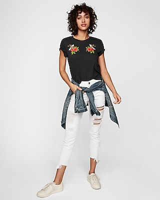 Express One Eleven Rose Easy Crew Neck Tee by Express