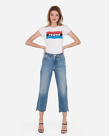 c6c7a9d21bb Express View · express one eleven femme color block graphic slim tee
