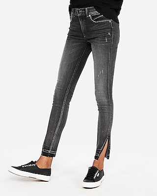 petite high waisted denim perfect stretch+ ankle jean leggings