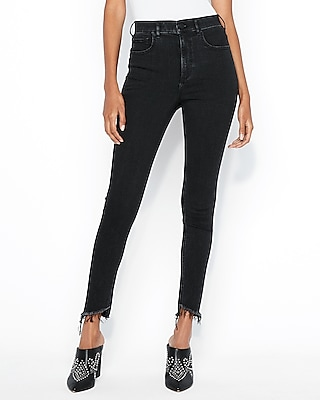 petite super high waisted black denim perfect ankle jean leggings