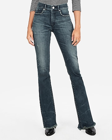 a00e1fc851c Express View · high waisted denim perfect raw hem barely boot jeans