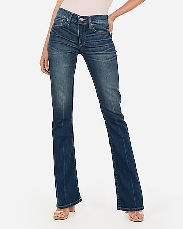 mid rise barely boot jeans