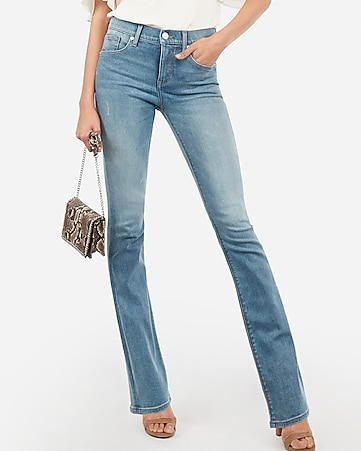 mid rise denim perfect light wash barely boot jeans