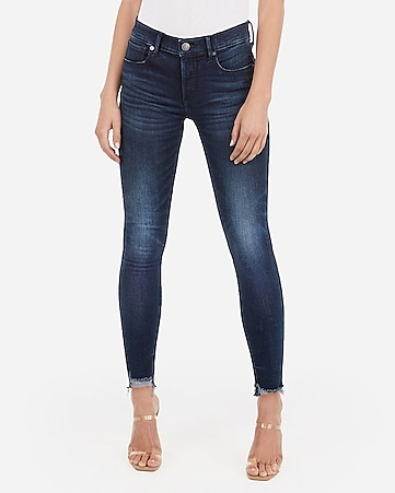 30aa083e711 Express View · mid rise denim perfect raw hem ankle leggings