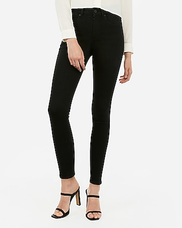 high waisted denim perfect curves black ankle legging