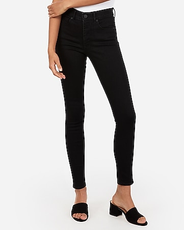 high waisted denim perfect black ankle leggings