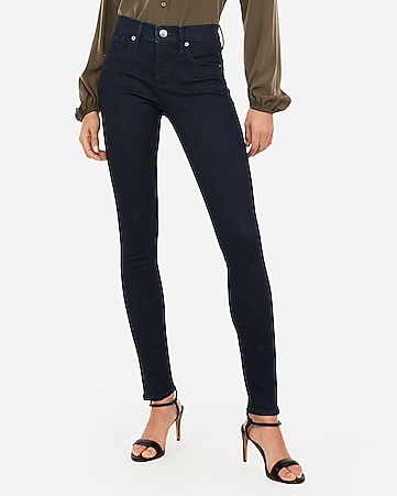 mid rise denim perfect dark wash ankle legging