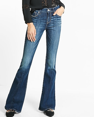 Mid Rise Bell Flare Jean | Express