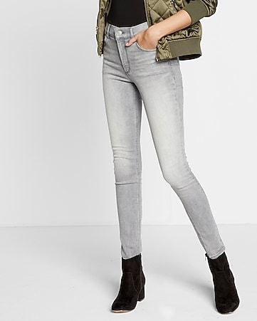 gray high waisted stretch+ performance jean legging